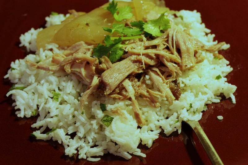 Slow Cooker Mojo Pork with Cilantro Lime Rice