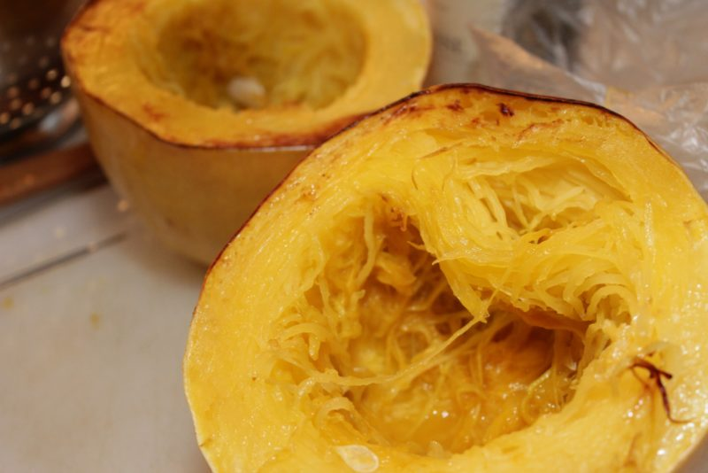 Spaghetti Squash with Bacon and Caramelized Onions | BearandBugEats.com