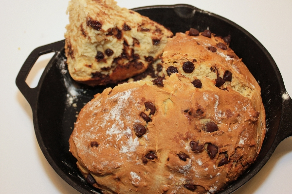 Chocolate Chip Irish Soda Bread | baking recipes | St. Patrick's Day recipes | BearandBugEats.com