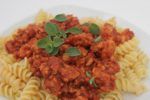 Extra Special Turkey Bolognese has a rich layering of flavors. Simmer all day, or use the Extra Speedy version for weeknight dinners! | sauce recipes | turkey recipes | BearandBugEats.com