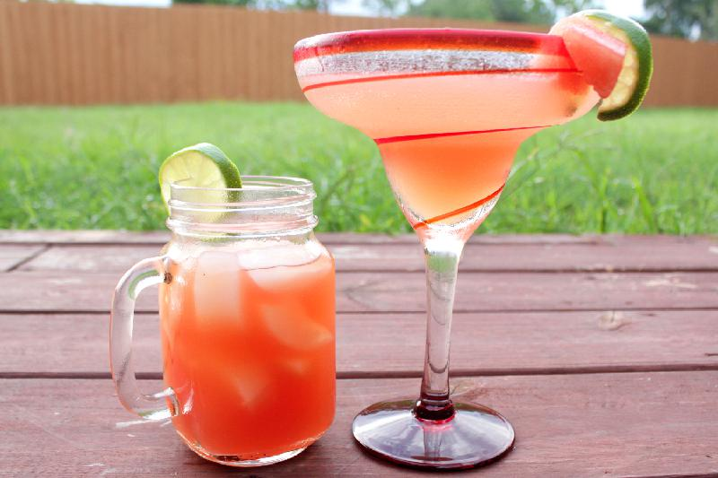 Watermelon Cocktails: Watermelon Rosé Margarita and Watermelon Sling | cocktail recipes | watermelon recipes | BearandBugEats.com