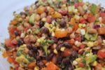 California Cowboy Caviar! Creamy avocado finishes a no-stove dish that can be an entree, a side, a topping, or snack. Great for potlucks! | vegan recipes | healthy recipes | BearandBugEats.com