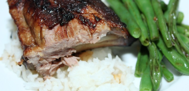 Slow Cooker Sticky Asian Ribs are effortless delicious. Make for any time you don't want to heat up the house for great ribs! | asian recipes | slow cooker recipes | Father's Day recipes | BearandBugEats.com