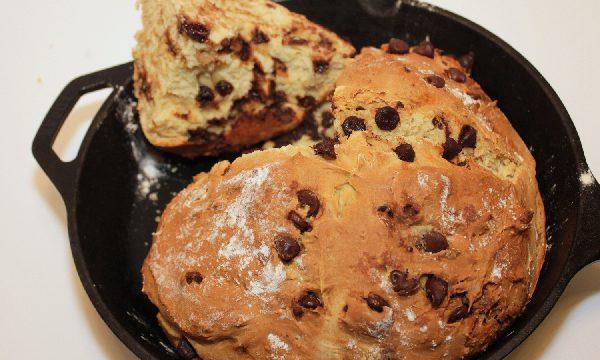 Chocolate Chip Irish Soda Bread | baking recipes | St. Patrick's Day recipes | BearandBugEats.com