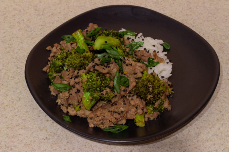Plated slow cooker Korean BBQ